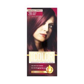 Vopsea de păr Aroma Color 28 Rubiniu - 90ml