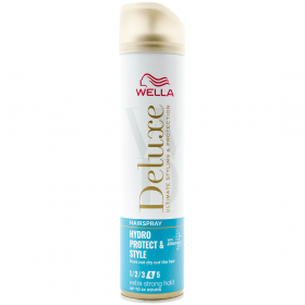 Wella Deluxe Hydro Protect and Style Extra Strong Hold Nr. 3 lac fixativ pentru păr - 250ml