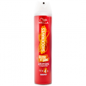 Wella Shockwaves Sleek and Shine Nr. 4 lac fixativ pentru păr - 250ml